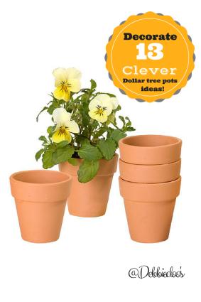 Clever Dollar Tree Garden Pot Decorating Ideas Bloggers Best Diy
