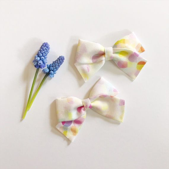 Big Knot Felt Bows with Nude Nylon Band, Multiple Colors