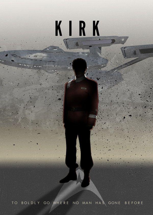 Star Trek Starfleet Captains Displate Posters