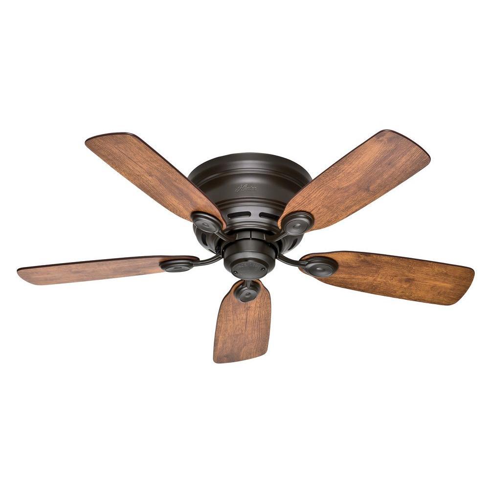 Hunter Low Profile Iv 42 In Indoor New Bronze Ceiling Fan 51061 Ceiling Fans Without Lights Bronze Ceiling Fan Flush Mount Ceiling Fan