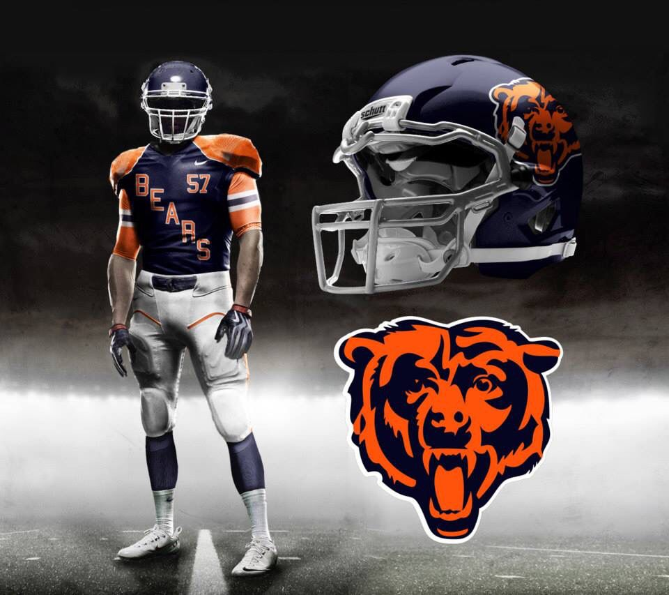 My Chicago Bears concept Football Uniforms f64536145ec