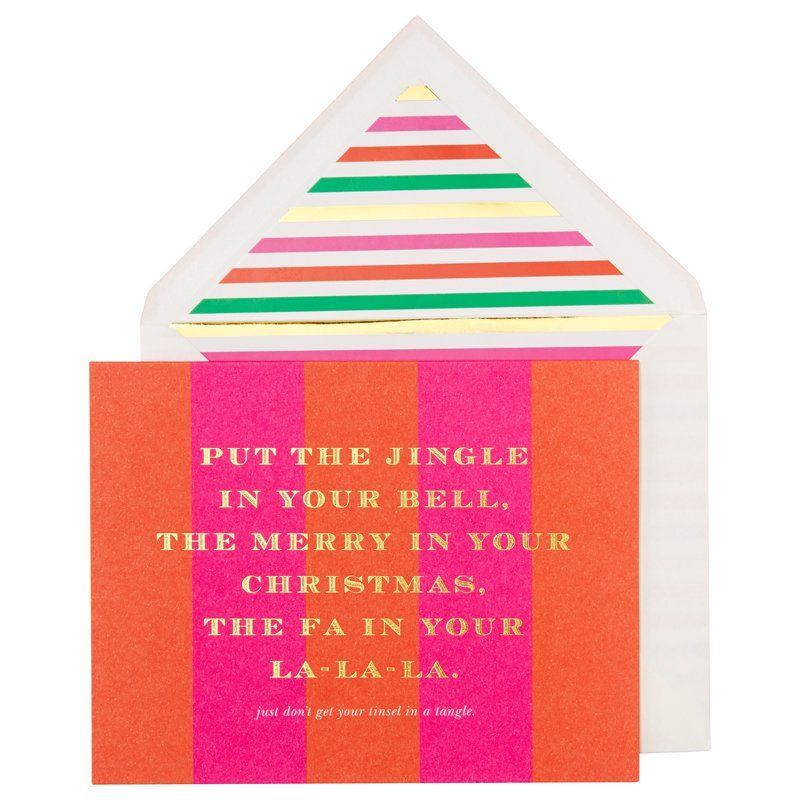 Kate Spade New York Tinsel Tangle Holiday Card Set, Set of 10 by ...