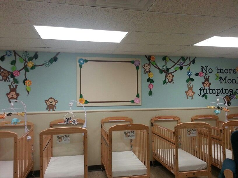 My Infant Room At My School Still Need To Add Art To The Board Baby Room Display Boards Daycare Decor Childcare Rooms