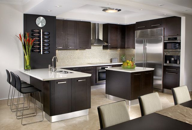 decorate your kitchen with dark kitchen cabinets interior design redecorating your kitchen result in effectively renewing the energy and ambition for - Interior Kitchen Design