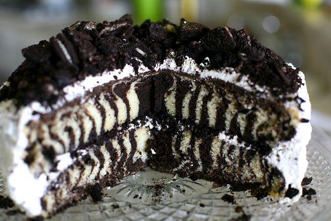 Zebra Cake Recipe Joy Of Baking: Claire's Birthday Zebra Oreo Cake
