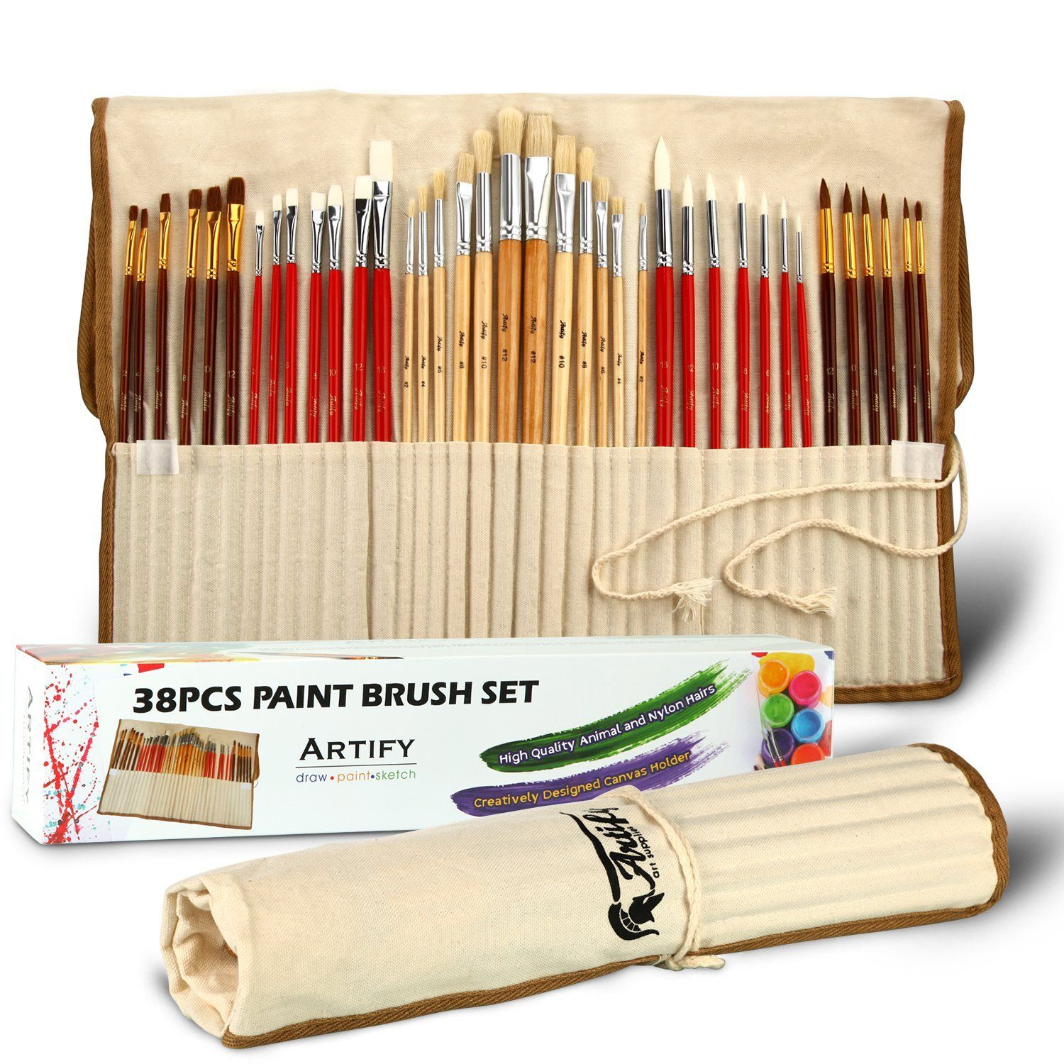 Excellent art brush set, Artify, water color brushes