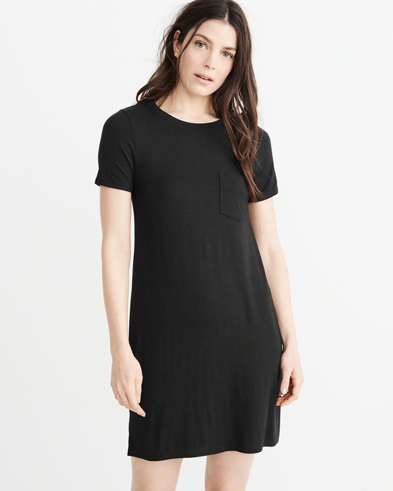 b8624f5550c9 A&F Women's Pocket T-Shirt Dress | Products | Knit shorts, Short ...