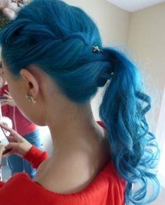 Blue Dip Dye Hair Color For Black