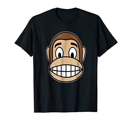Mens Monkey Costume Shirt For Jungle Theme Party Wildlife