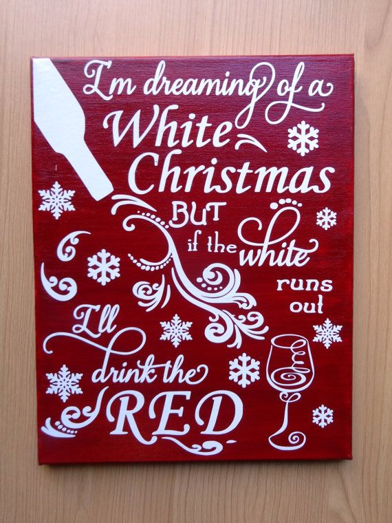 CHRISTMAS SALE Ready to ship Holiday Wine by CraftABeautifulLife