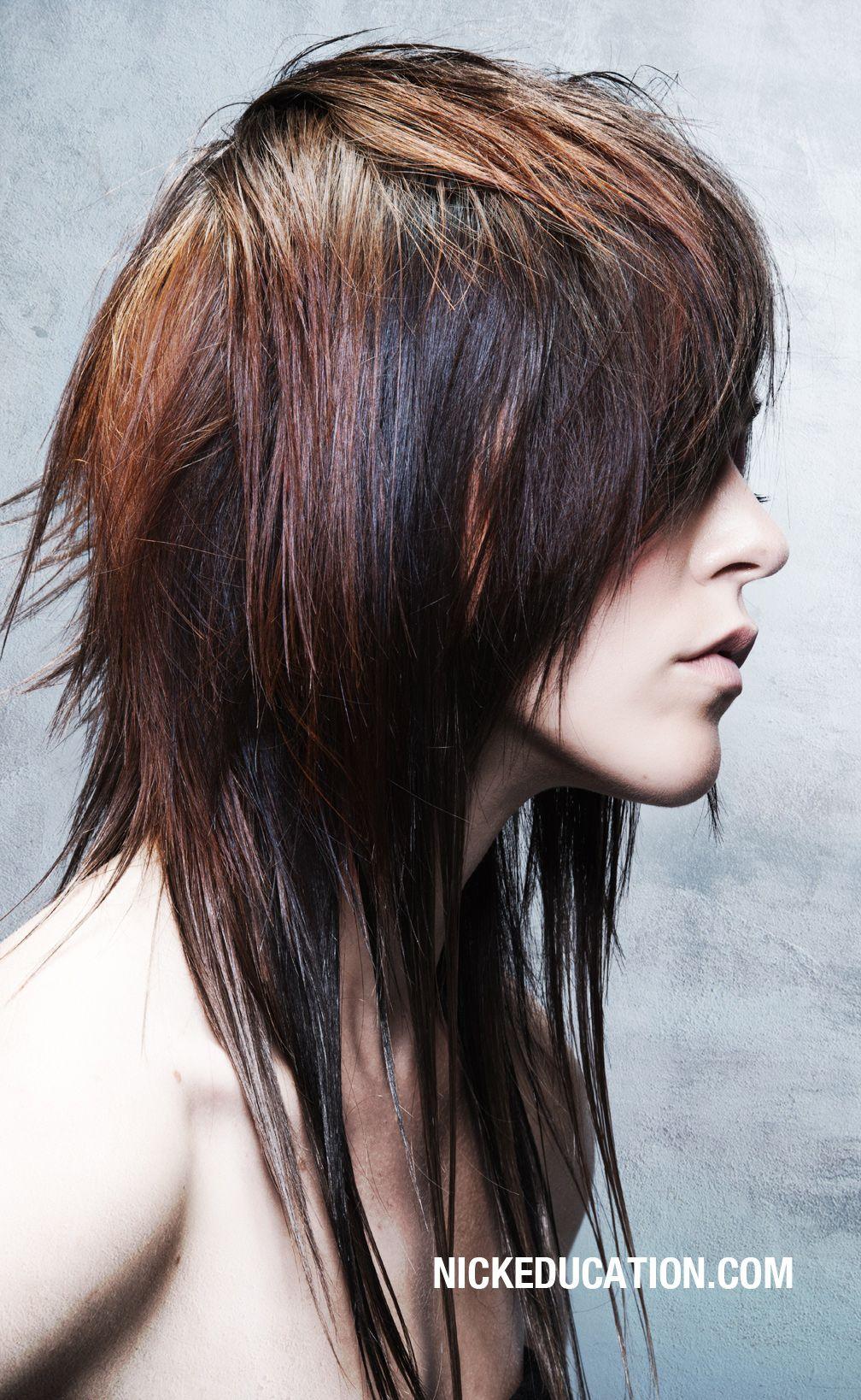 Fabulous choppy and long so not easy to do hair i like