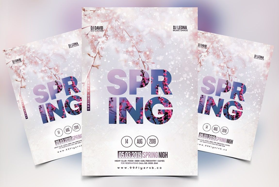 Download Spring Vibe PSD Flyer Template for free  This flyer is
