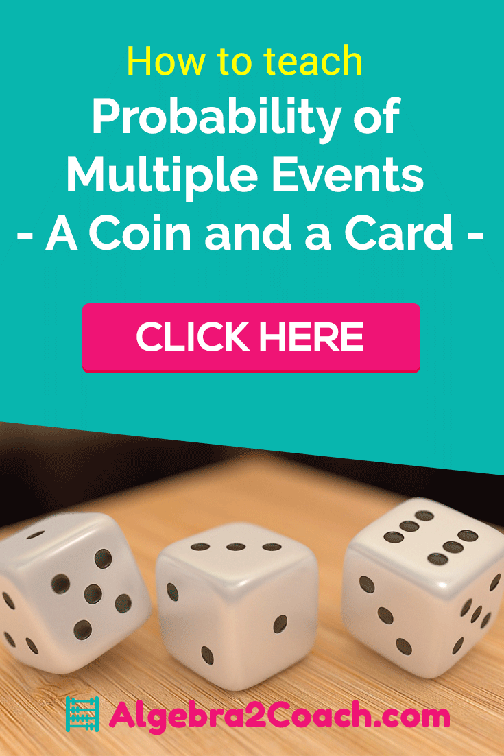 Probability of Multiple Events - A Coin and a | Math Grades 7-12 ...