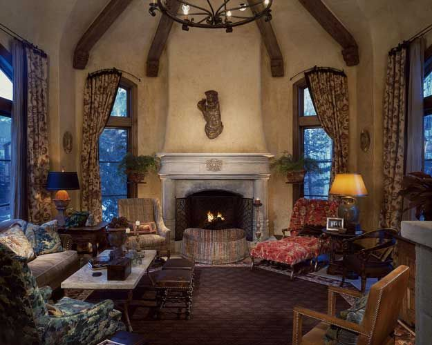 English Living Room Designed By Nancy Anderson Ross, Dallas Design Group  Interiors, In Colorado