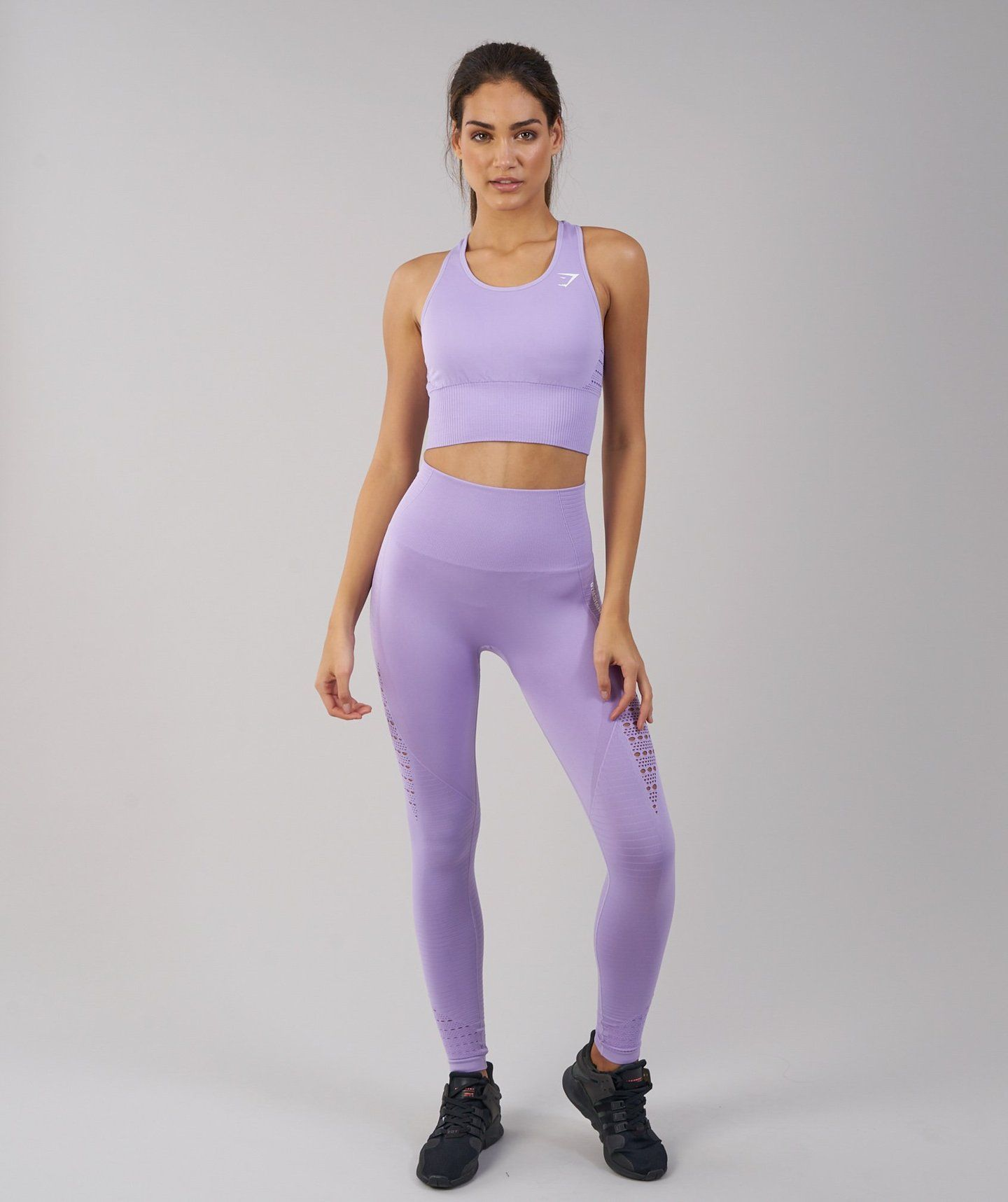 49153f465d762 Gymshark Energy Seamless Crop Top - Pastel Lilac | Workout | Vest ...