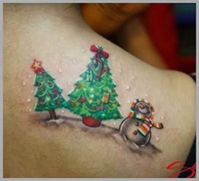 Christmas Tree Tattoo Ideas.Christmas Tree Tatted Up Christmas Tattoo Tattoos
