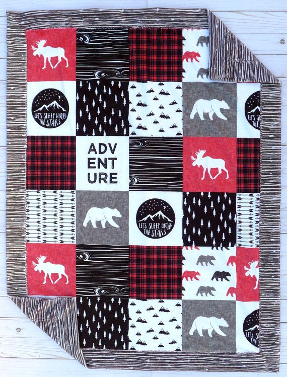 Moose Baby Quilt