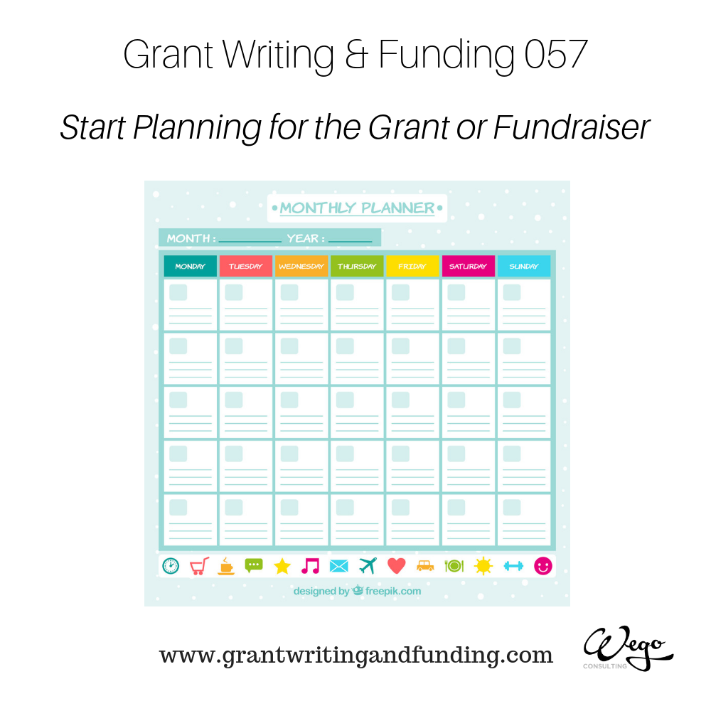 """""""Start planning for grant or fundraiser"""", you are not"""