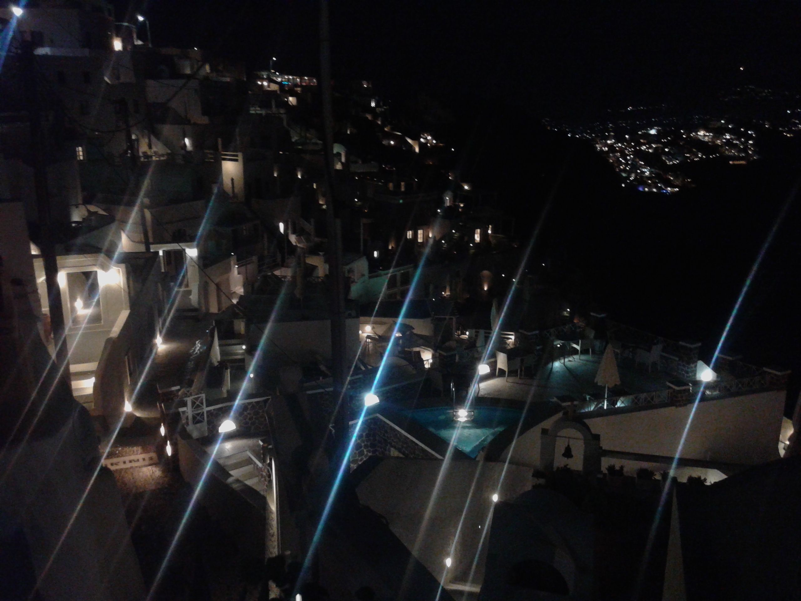 Imerovigli at night