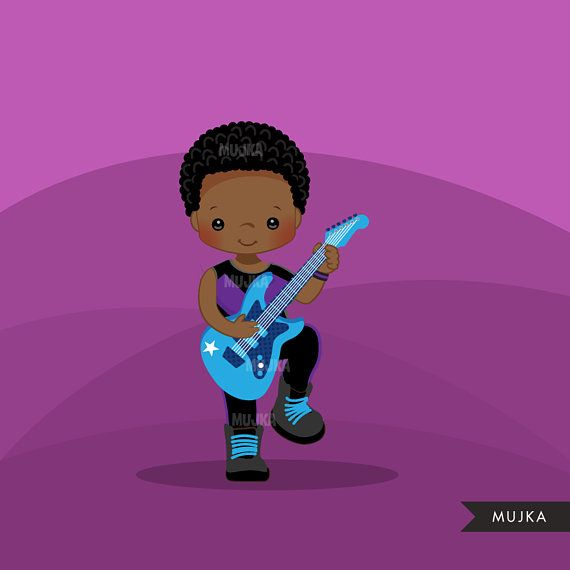 Rockstar Boys Clipart, guitarist, black, musician , rock ...
