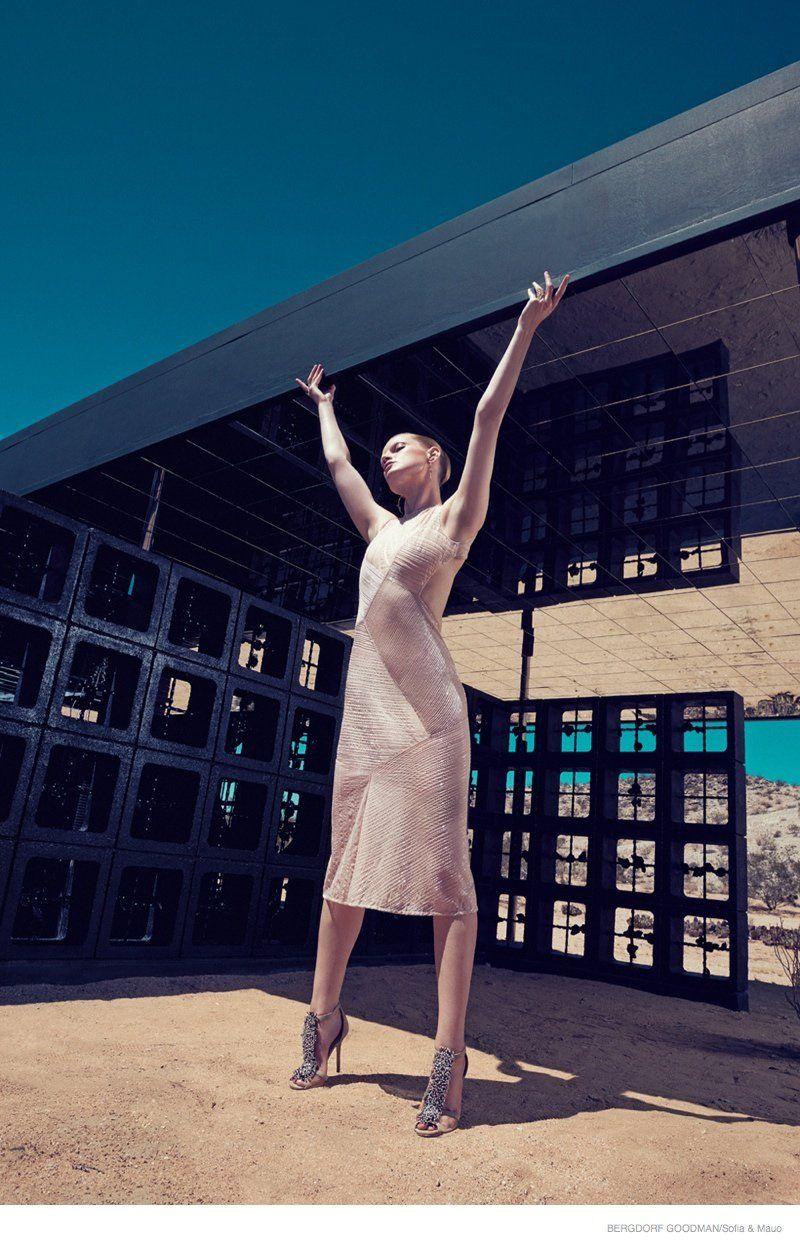 Guinevere Van Seenus Wears Resort 2015 Dresses for Bergdorf Goodman