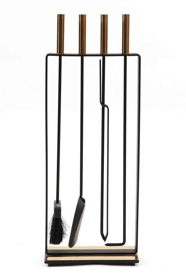 Iron U0026 Brass Modernist Fireplace Tools | Red Modern Furniture