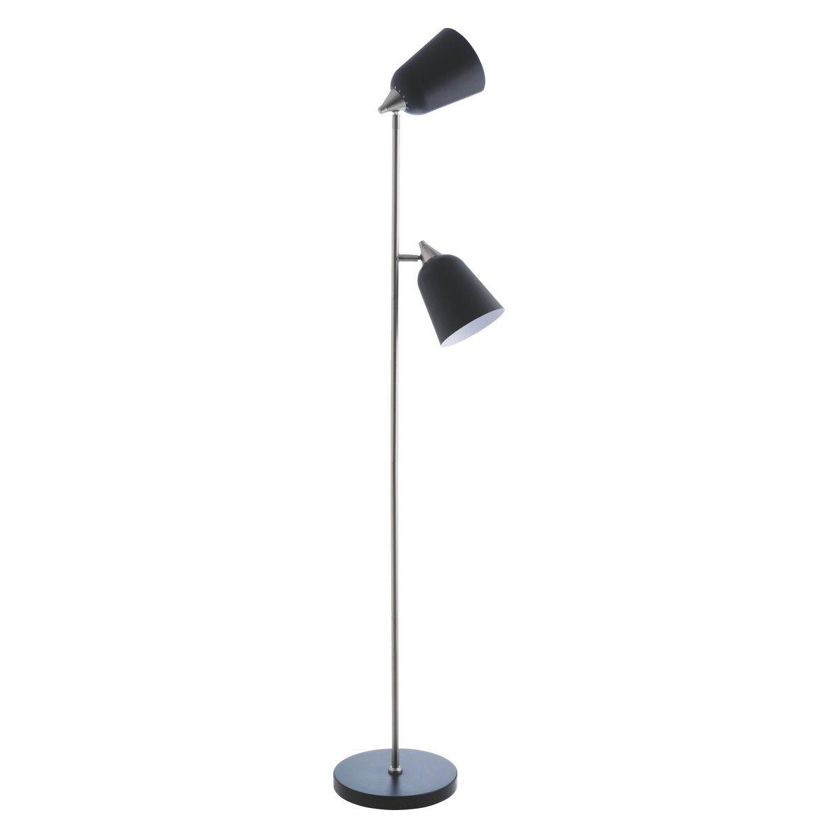 Double Black Metal Double Head Floor Lamp Buy Now At Habitat Uk Floor Lamp Lamp Lamp Light