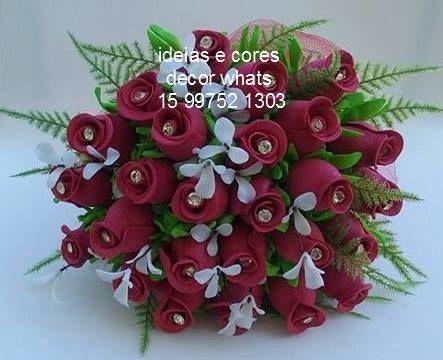 Buquê com botões de rosas