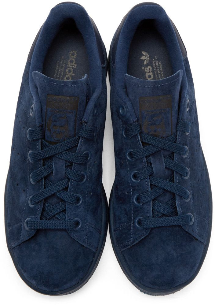 pretty nice 8cfd6 a5331 adidas Originals - Navy Suede Stan Smith Sneakers