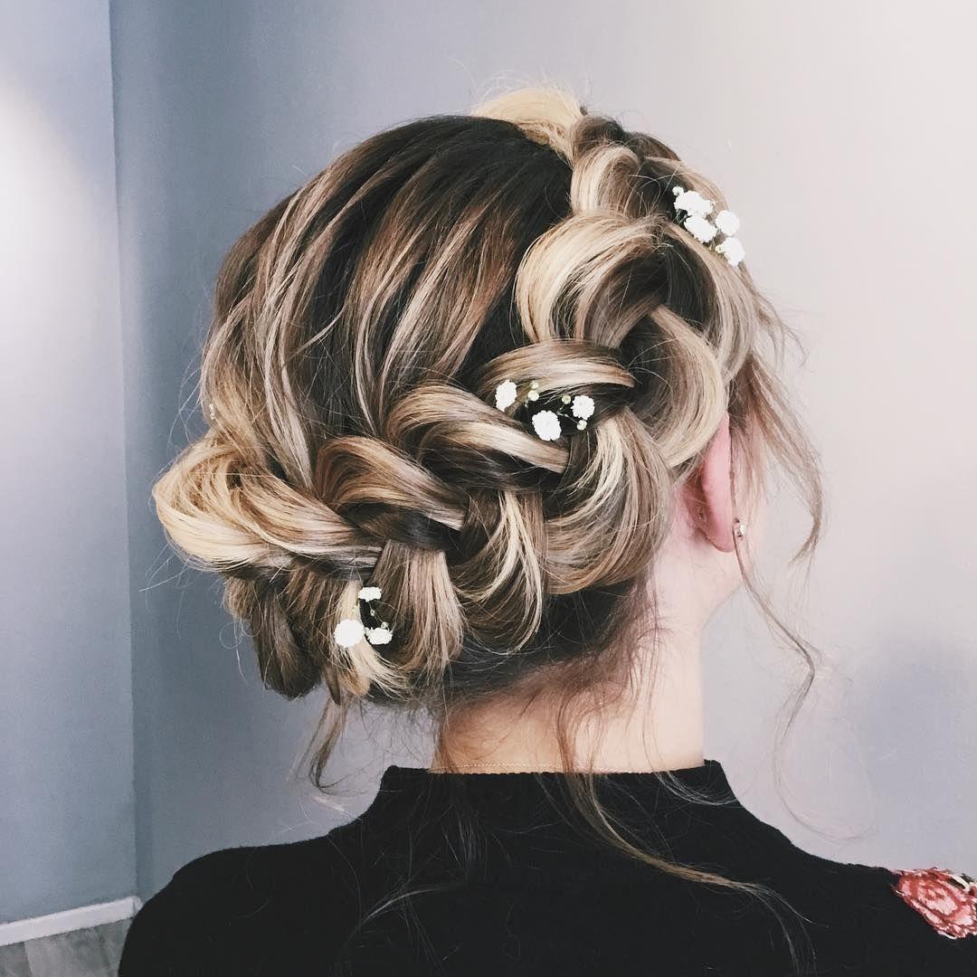 bridal braid,half up half down hairstyle , hairstyle ,updo