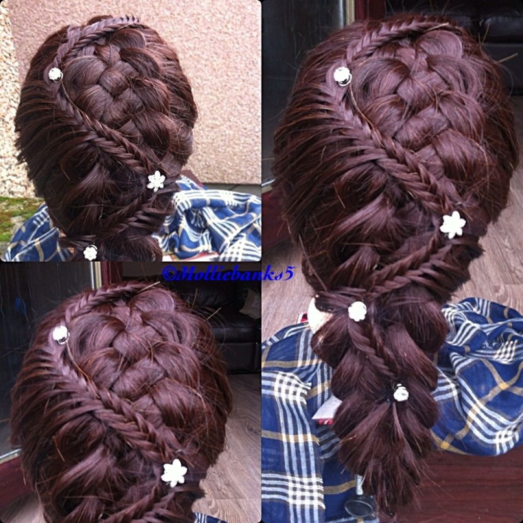 5 Strand Braid With Fishtail Accent Hair Styles Braided