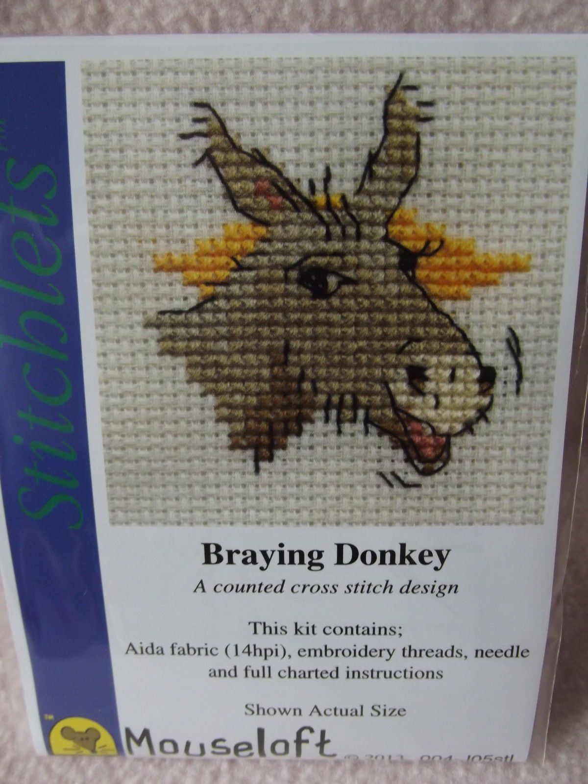 Counted cross stitch kit Mouseloft Tiddlers Donkey