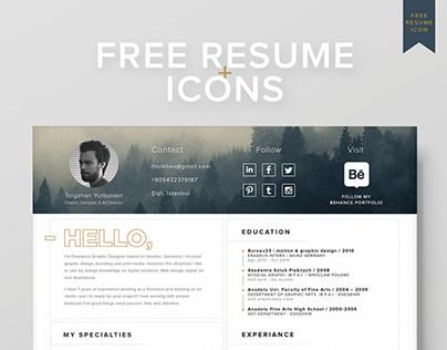 Check out new work on my @Behance portfolio  - my free resume