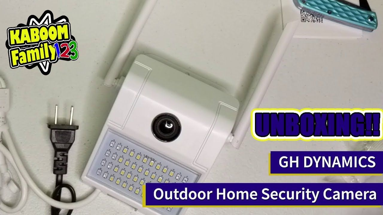 Gh Dynamics Outdoor Home Security Camera Unboxing Security Cameras For Home Outdoor Home Security Cameras Home Security