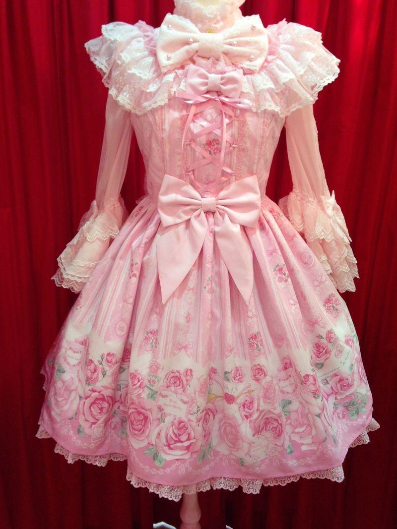 Angelic Pretty | Romntic Rose Letterジャンパースカート | Kawaii ...