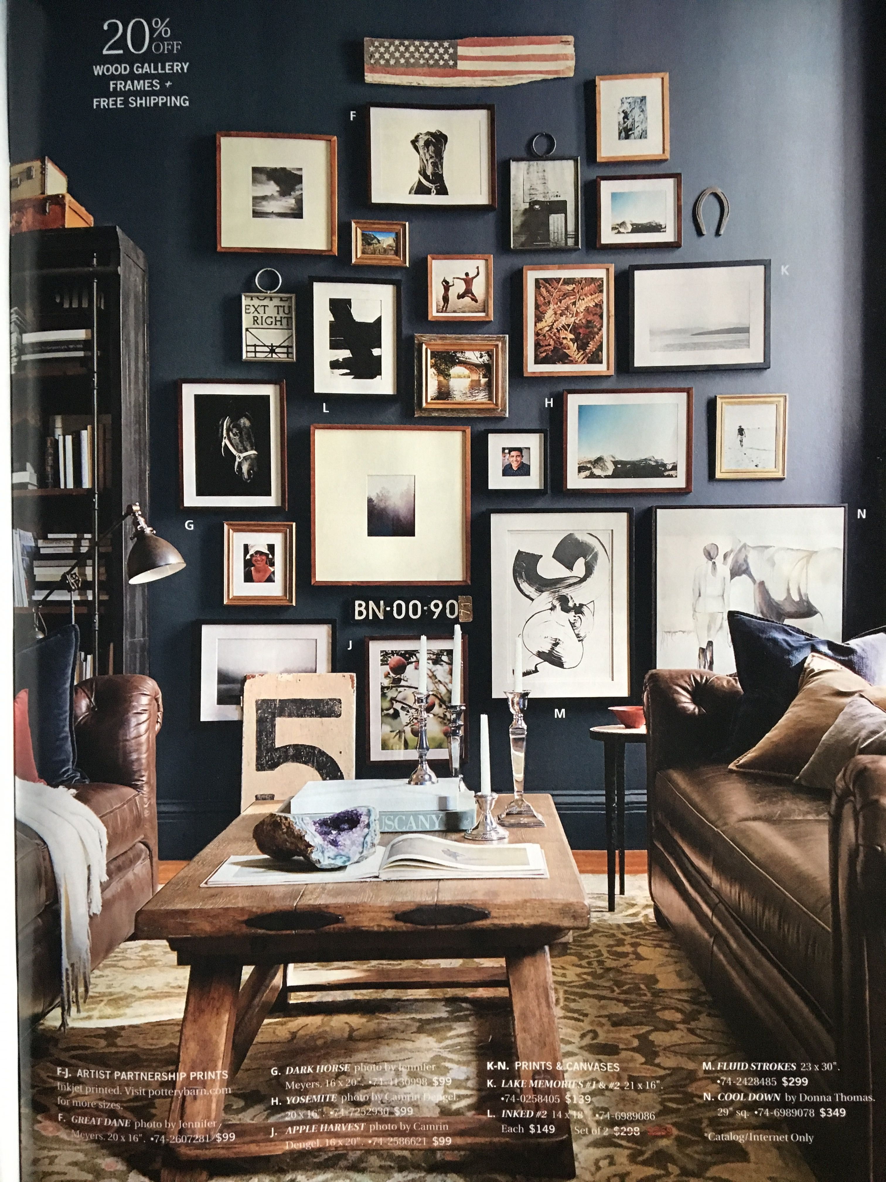Add a vintage style to your walls  A frame cabin, Gallery wall