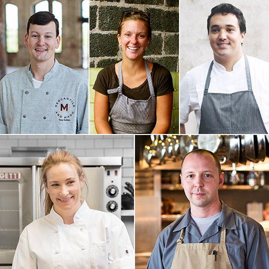 Charleston chefs (clockwise from top left) Trey Dutton, Emily Hahn, Jason Stanhope, Nate Whiting and Amalia Scatena