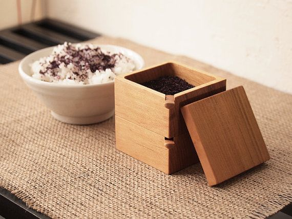 Spice Container. Salt Cellar. Sugar Bowl by HitonariWorks on Etsy, ¥6800