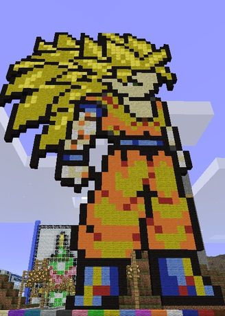 Minecraft Goku Pixel Art: Dragon Ball Z- Dragon Ball Z Kai ...