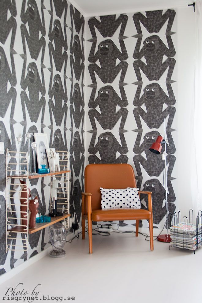 Crazy Monkeys Wallpaper Is Just A Delight The Repeion Almost Makes It Look Like Bold Pattern Upon Closer Inspection You See And Have To