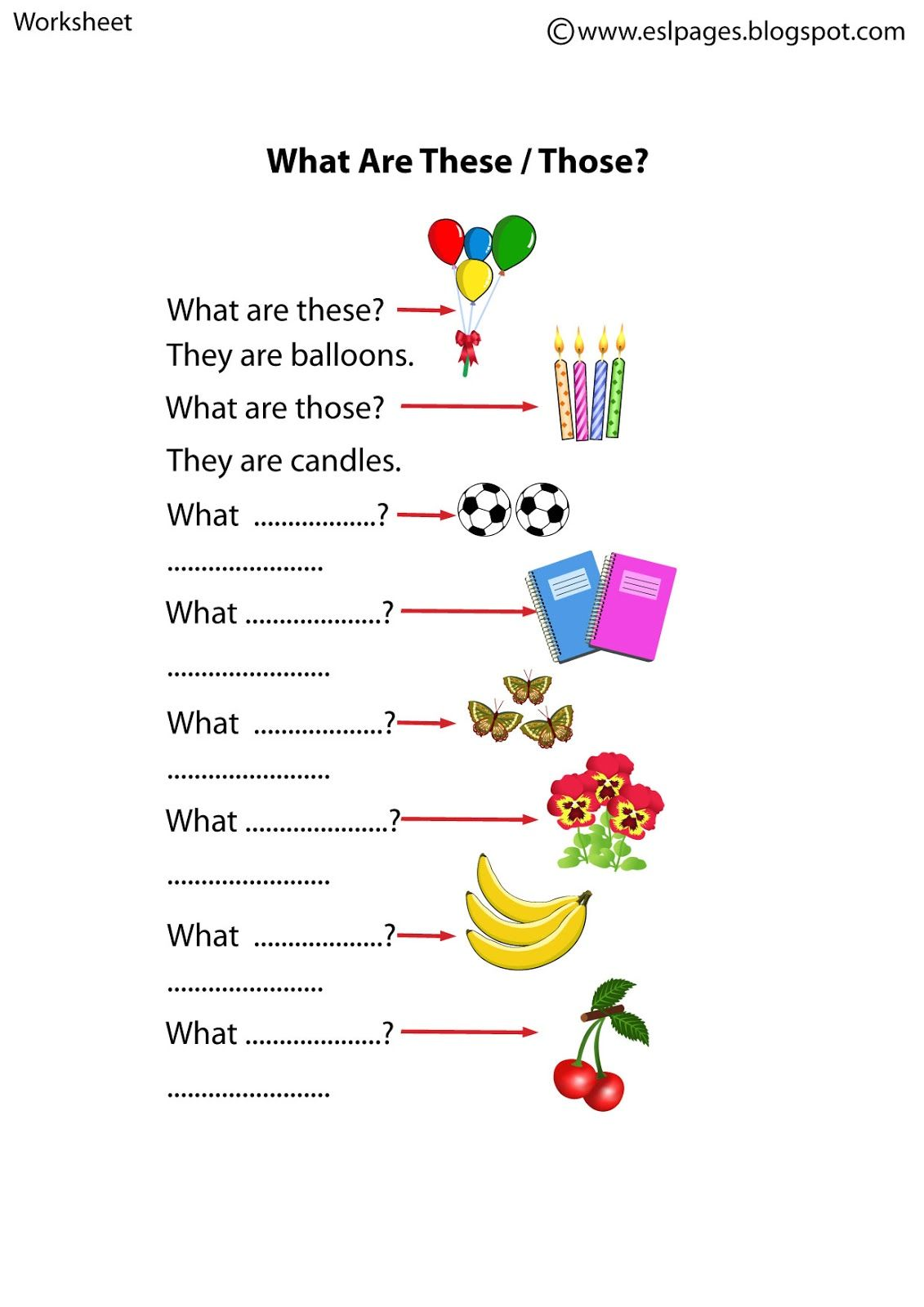 hight resolution of Esl Pages: This/That/These/Those Worksheets   English grammar worksheets