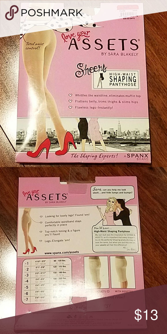 848c3f571 Asset By Spanx Nude High Waist Shaping Pantyhose BRAND NEW NUDE PANTYHOSE  BY SPANX SIZE 1 4 10
