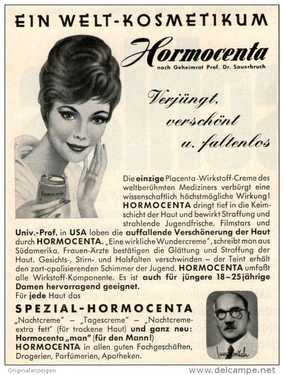 original werbung anzeige 1960 hormocenta ca 80 x 110 mm vintage print ads reklame. Black Bedroom Furniture Sets. Home Design Ideas