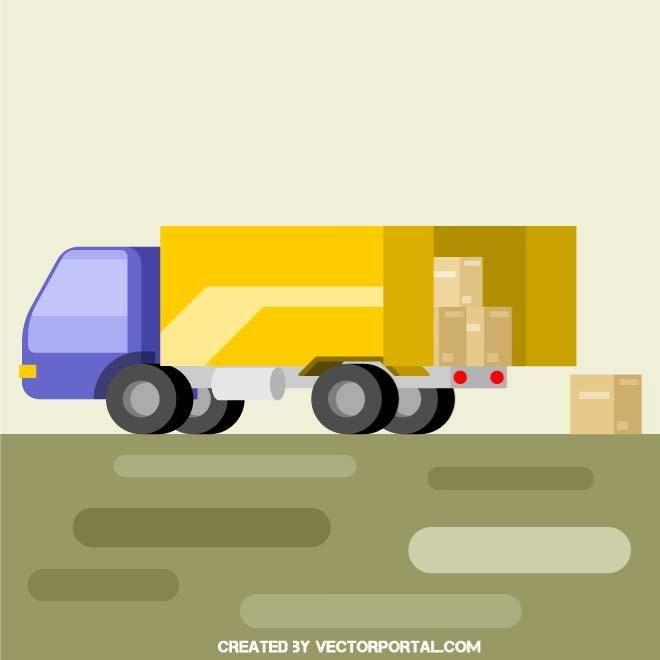 Delivery Truck Vector Vector Free Toy Car Vector