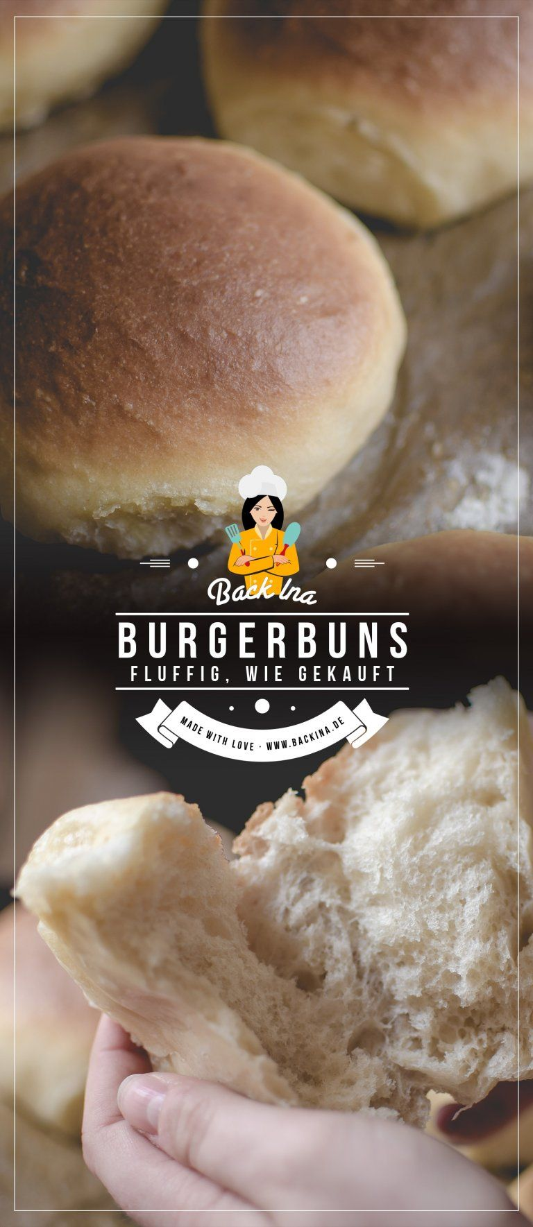 Fluffig weiche American Burger Buns wie gekauft   BackIna.de