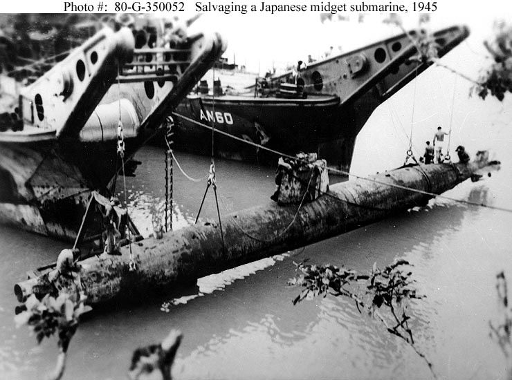 Midget sub attack at okinawa