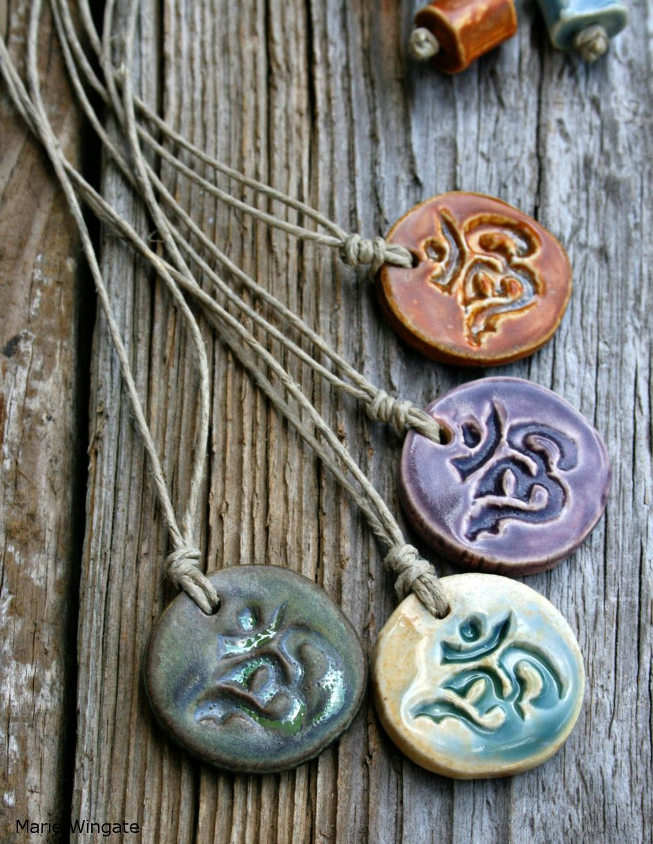 Om Necklaces by Marie Wingate at Earthforms by Marie