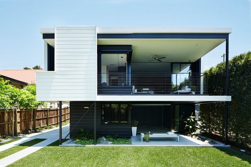 Harmonious Blend Of Traditional And Modern Design Kent Rd House In Australia Freshome Com Architecture House Architecture Modern House Design