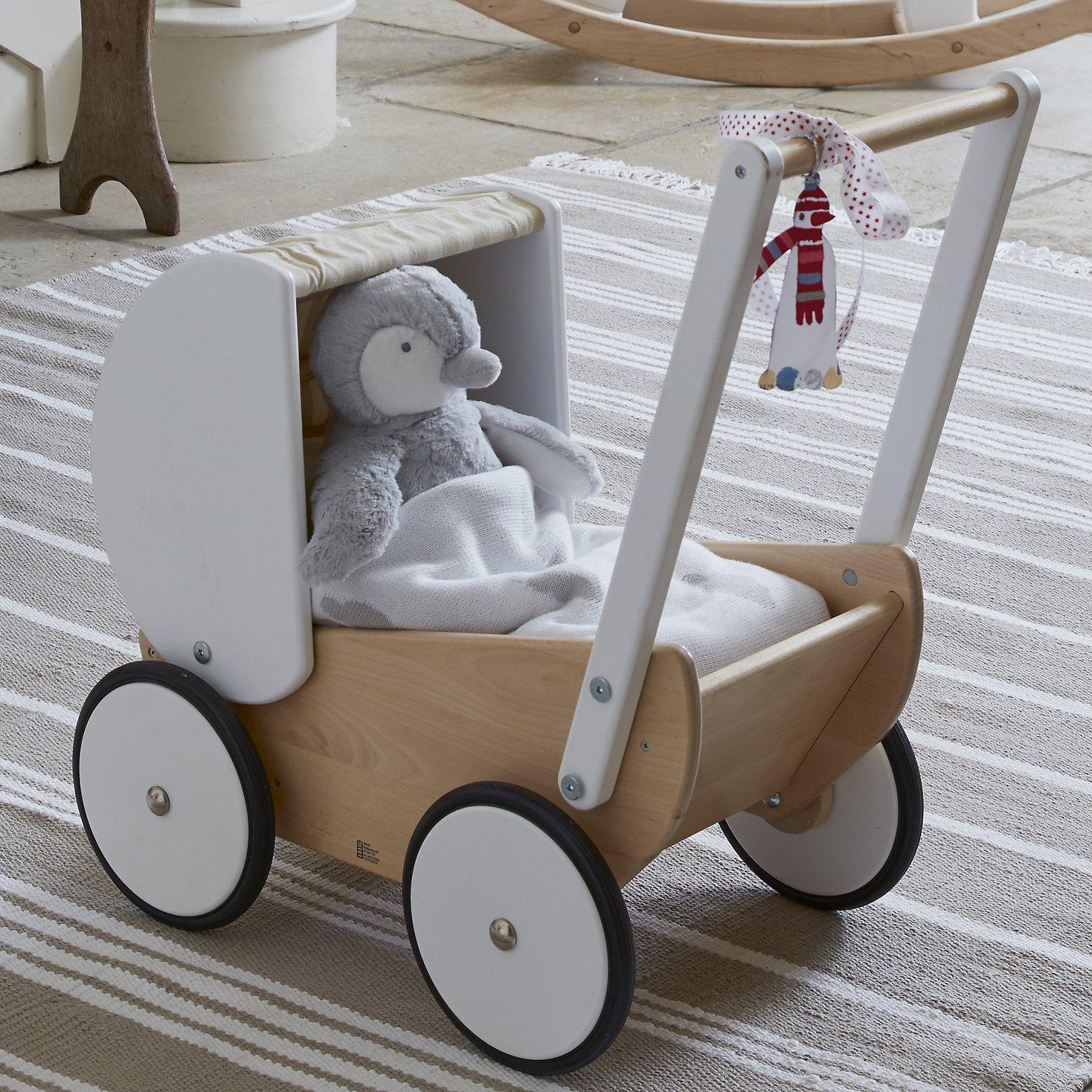 wooden toy pram | luxury toys | the white company | bajo