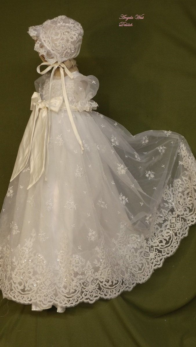 Angela West Christening gown set Delilah with by angelawesthgowns ...